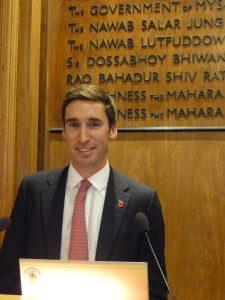 Guest speaker Miles Skinner