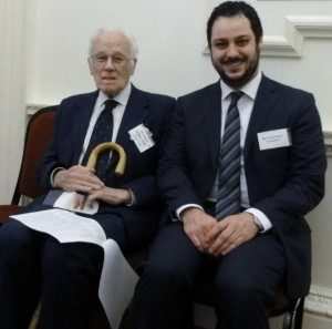 Keith Killby, MSMT founder, and Francesco Trivelloni, deputy mayor of Fontanellato