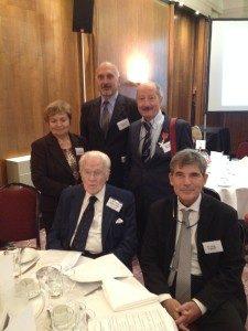 Keith Killby, centre, with Luigi Pighetti, right. Behind them are Andreina Ciaffoni Millozzi, Maurizio Pittacolo and Antonio Millozzi