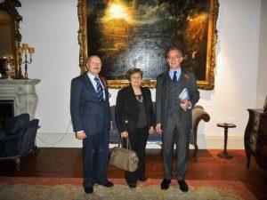 Antonio and Andreina Millozzi with Pasquale Terracciano, the Italian ambassador